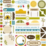 Bella Blvd - Camped Out Collection - 12 x 12 Cardstock Stickers - Label Additions, BRAND NEW