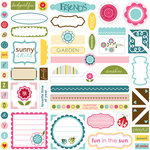 Bella Blvd - Plastino Collection - 12 x 12 Cardstock Stickers - Label Additions, CLEARANCE