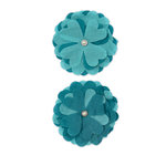 Bella Blvd - Blooms a Bella Collection - Cotton Flower Embellishments - Azzurra, CLEARANCE