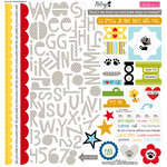 Bella Blvd - Riley Collection - 12 x 12 Cardstock Stickers - Treasures and Text