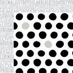 Bella Blvd - Just Add Color Collection - 12 x 12 Double Sided Paper - Dotty