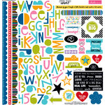 Bella Blvd - Just Add Color Collection - 12 x 12 Cardstock Stickers - Treasures and Text