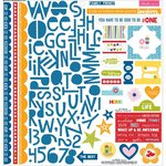 Bella Blvd - Family Frenzy Collection - 12 x 12 Cardstock Stickers - Treasures and Text