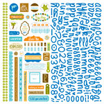 Bella Blvd - All Inclusive Collection - 12 x 12 Cardstock Stickers - Alphabet and Bits, CLEARANCE