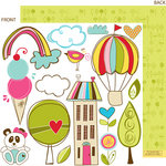 Bella Blvd - Sunny Happy Skies Collection - 12 x 12 Double Sided Paper - Cute Cuts, CLEARANCE