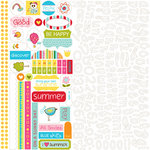 Bella Blvd - Sunny Happy Skies Collection - 12 x 12 Cardstock Stickers - Alphabet and Bits, CLEARANCE