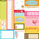 Bella Blvd - Sunny Happy Skies Collection - 12 x 12 Cardstock Stickers - Bella Blurbs, CLEARANCE