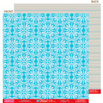 Bella Blvd - Hello Beautiful Collection - 12 x 12 Double Sided Paper - Blue Without You, CLEARANCE