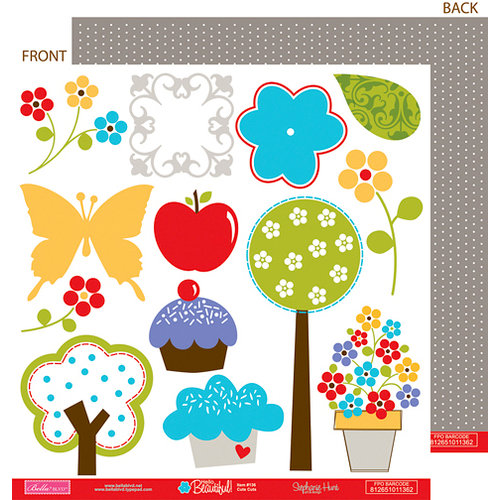 Bella Blvd - Hello Beautiful Collection - 12 x 12 Double Sided Paper - Cute Cuts, CLEARANCE