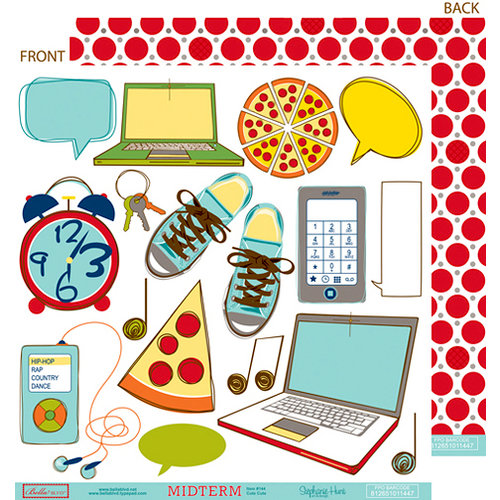 Bella Blvd - Midterm Collection - 12 x 12 Double Sided Paper - Cute Cuts