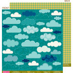 Bella Blvd - One Fall Day Collection - 12 x 12 Double Sided Paper - Chance of Rain, CLEARANCE
