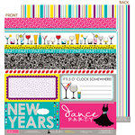 Bella Blvd - Socialite Collection - 12 x 12 Double Sided Paper - Borders N' Blocks