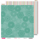 Bella Blvd - Lovey Dovey Collection - 12 x 12 Double Sided Paper - Circle of Love