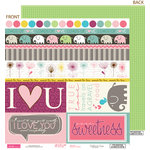 Bella Blvd - Lovey Dovey Collection - 12 x 12 Double Sided Paper - Borders N' Blocks