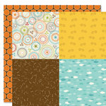Bella Blvd - Tail Waggers and Cat Naps Collection - 12 x 12 Double Sided Paper - Quadrants