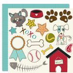Bella Blvd - Tail Waggers and Cat Naps Collection - 12 x 12 Double Sided Paper - Cute Cuts