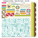 Bella Blvd - Tail Waggers and Cat Naps Collection - 12 x 12 Cardstock Stickers - Alphabet and Bits