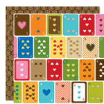 Bella Blvd - Family Dynamix Collection - 12 x 12 Double Sided Paper - Game Night