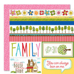 Bella Blvd - Family Dynamix Collection - 12 x 12 Double Sided Paper - Borders N'  Blocks