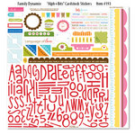 Bella Blvd - Family Dynamix Collection - 12 x 12 Cardstock Stickers - Alphabet and Bits