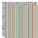 Bella Blvd - Mr. Boy Collection - 12 x 12 Double Sided Paper - Hyper Stripe