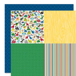 Bella Blvd - Mr. Boy Collection - 12 x 12 Double Sided Paper - Quadrants