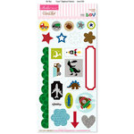 Bella Blvd - Mr. Boy Collection - Ciao Chip - Self Adhesive Chipboard - Icons