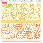 Bella Blvd - Sophisticates Collection - 12 x 12 Cardstock Stickers - Quattrofina Alphabets - Mustard and Apricot