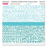 Bella Blvd - Sophisticates Collection - 12 x 12 Cardstock Stickers - Quattrofina Alphabets - Salt Water and Pacific