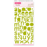 Bella Blvd - Sophisticates Collection - Ciao Chip - Self Adhesive Chipboard - Simply Simona Alphabet - Pickle Juice