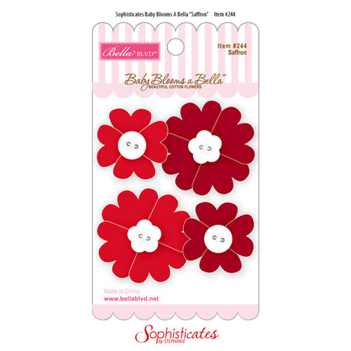 Bella Blvd - Sophisticates Collection - Baby Blooms a Bella - Cotton Flowers - Saffron
