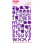 Bella Blvd - Sophisticates Collection - Ciao Chip - Self Adhesive Chipboard - Simply Simona Alphabet - Prune