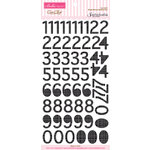 Bella Blvd - Sophisticates Collection - Ciao Chip - Self Adhesive Chipboard - Simply Simona Numbers - Oreo