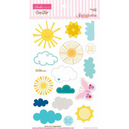 Bella Blvd - Sophisticates Collection - Ciao  Chip - Self Adhesive Chipboard - Clouds
