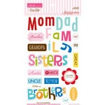 Bella Blvd - Sophisticates Collection - Ciao  Chip - Self Adhesive Chipboard - Family Words