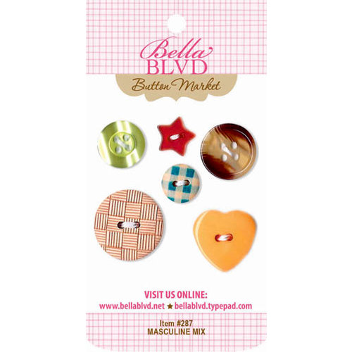 Bella Blvd - Buttons - Masculine Mix