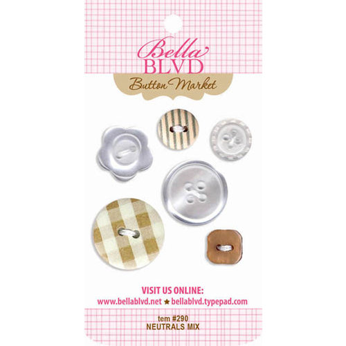 Bella Blvd - Buttons - Neutral Mix