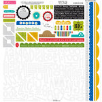 Bella Blvd - Making the Team Collection - 12 x 12 Cardstock Stickers - Alphabet and Bits