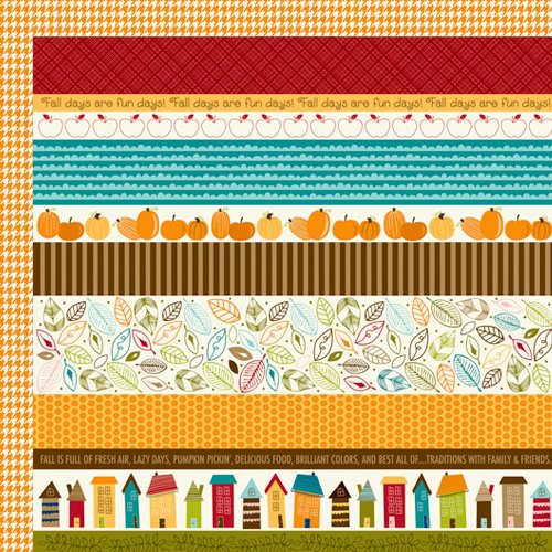 Bella Blvd - Finally Fall Collection - 12 x 12 Double Sided Paper - Borders