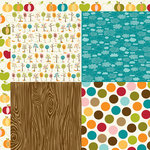 Bella Blvd - Finally Fall Collection - 12 x 12 Double Sided Paper - Quadrants