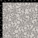 Bella Blvd - Too Cute to Spook Collection - Halloween - 12 x 12 Double Sided Paper - Cob Webs