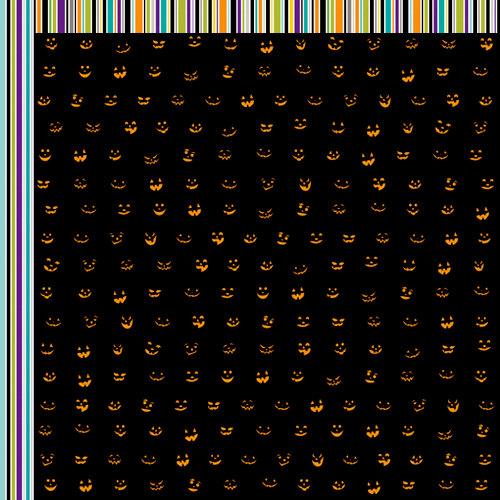 Bella Blvd - Too Cute to Spook Collection - Halloween - 12 x 12 Double Sided Paper - Jacks-A-Glow