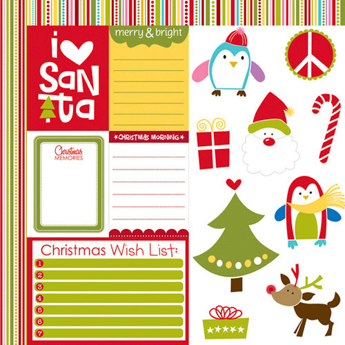 Bella Blvd - Christmas Wishes Collection - 12 x 12 Double Sided Paper - Cute Cuts