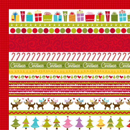 Bella Blvd - Christmas Wishes Collection - 12 x 12 Double Sided Paper - Borders