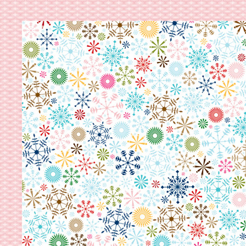 Bella Blvd - Winter Wonder Collection - 12 x 12 Double Sided Paper - Blizzard