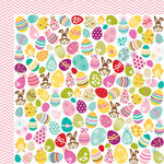 Bella Blvd - Spring Flings and Easter Things Collection - 12 x 12 Double Sided Paper - Egg Hunt