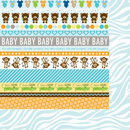 Bella Blvd - Baby Boy Collection - 12 x 12 Double Sided Paper - Borders