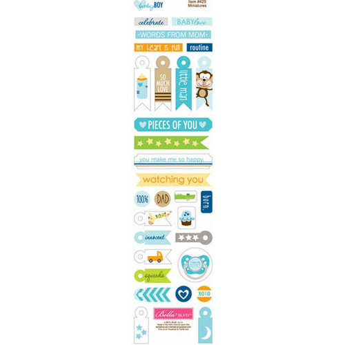 Bella Blvd - Baby Boy Collection - Cardstock Stickers - Miniatures