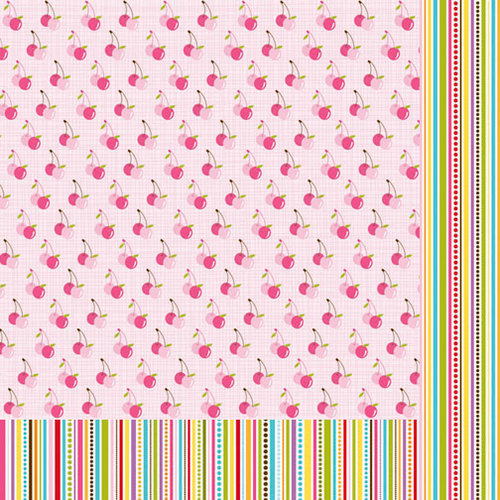 Bella Blvd - Sunshine and Happiness Collection - 12 x 12 Double Sided Paper - Juicy Good Time