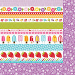 Bella Blvd - Sunshine and Happiness Collection - 12 x 12 Double Sided Paper - Borders